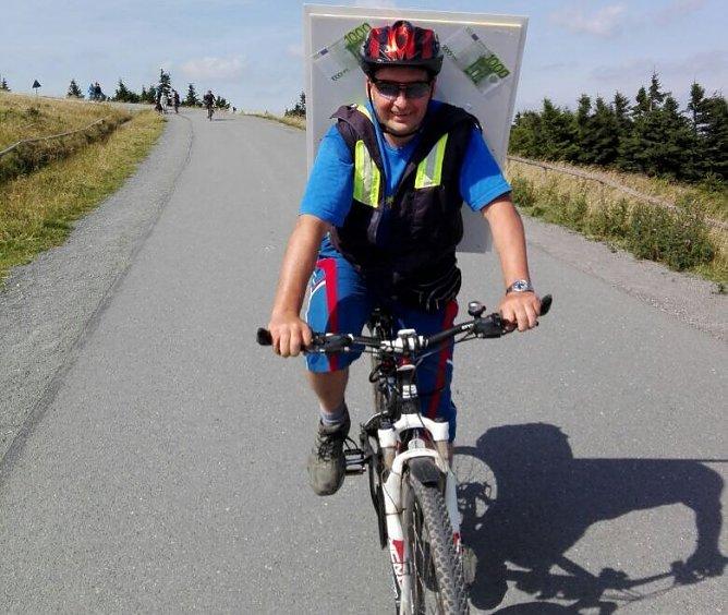 Heiko Windisch auf dem Weg zum Brocken (Foto: privat)