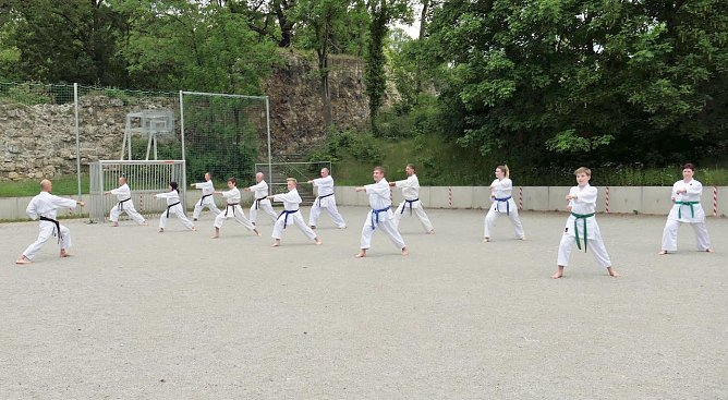 Karate-Training in Nordhausen (Foto: S.Schröter)