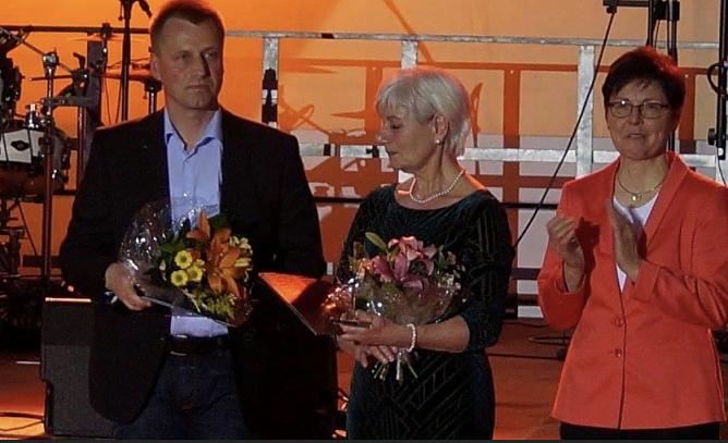 """Wolfra Herbst wird von Thüringens Sportministerin Heike Taubert 2018 als """"Trainerin des Jahres"""" geehrt (Foto: C.Keil)"""