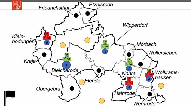 """An den sechs bisherigen Standorten der Bauhöfe ist nicht alles """"Grün"""" (Foto: Landgemeinde Bleicherode)"""